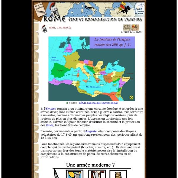 Rome. L'armée et le territoire