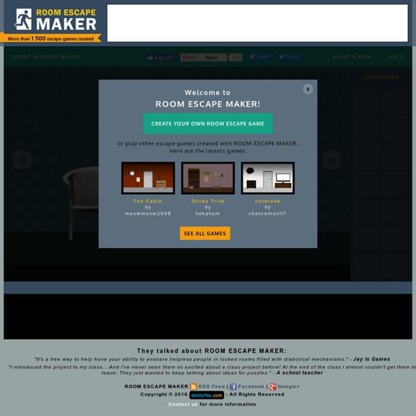 Room Escape Maker - Create Escape The Room Games For Free