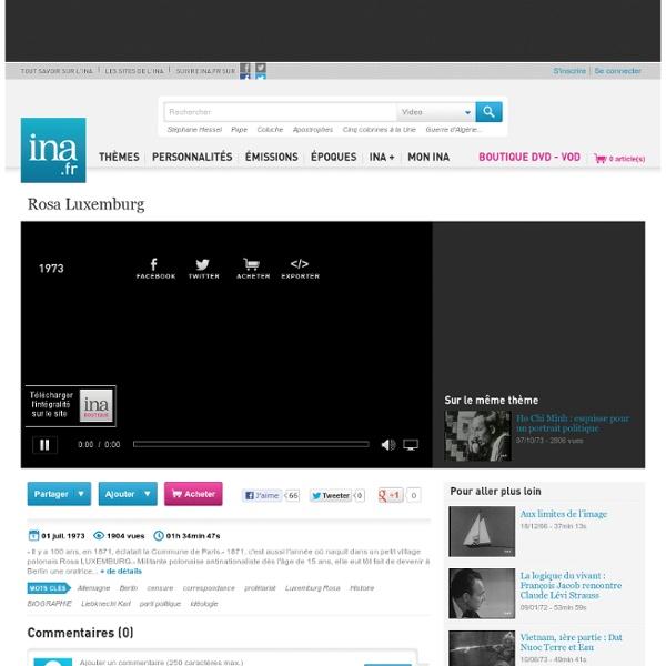 Rosa Luxemburg, vidéo Rosa Luxemburg, vidéo Politique Partis politiques - Archives vidéos Politique Partis politiques