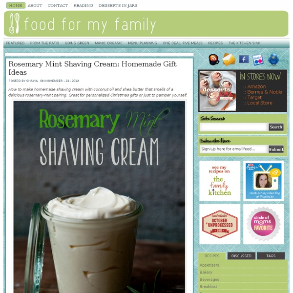 Rosemary Mint Shaving Cream: Homemade Gift Ideas