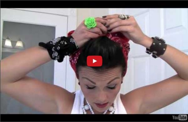 Pin-Up Hair Do - Rosie the Riveter Bandana