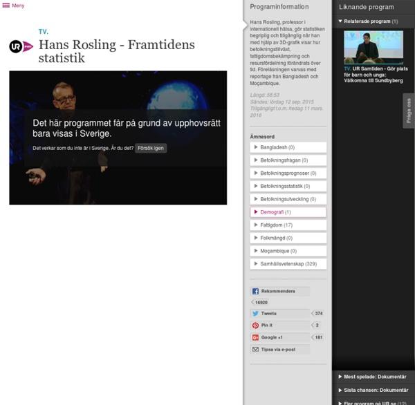 Hans Rosling - Framtidens statistik