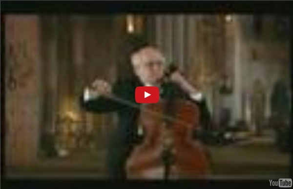 Rostropovich plays the Prelude from Bach's Cello Suite No. 1