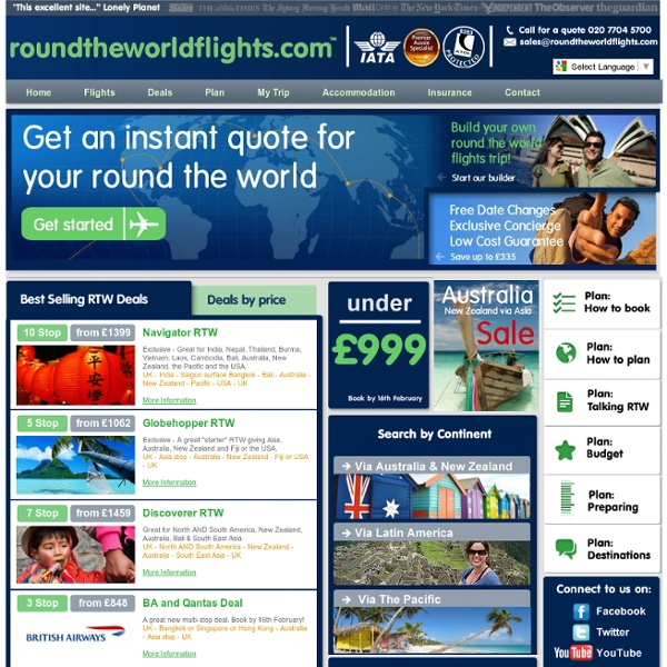Round the world tickets and flights specialists