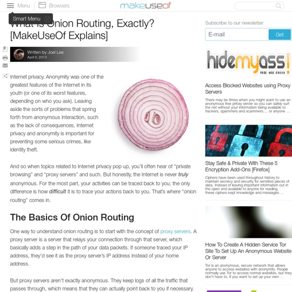 What Is Onion Routing, Exactly? [MakeUseOf Explains]