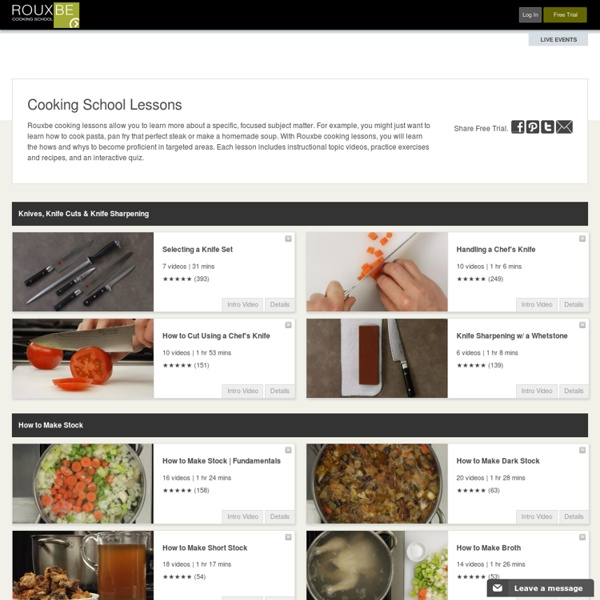Cooking School Lessons