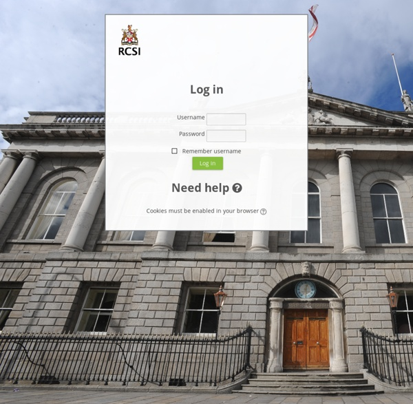 Royal College of Surgeons in Ireland (RCSI): Log in to the site