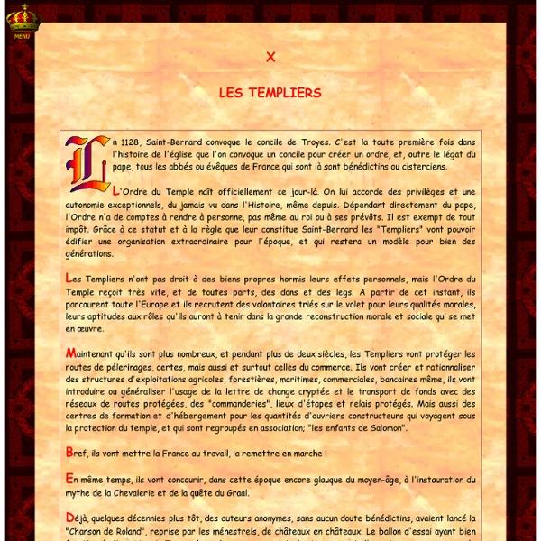 Royalement-Vôtre : Les Templiers