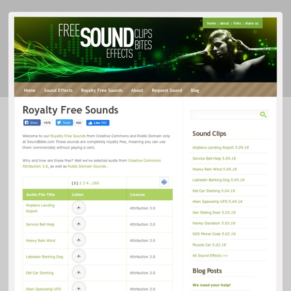 Royalty Free Sounds from Creative Commons and Public Domain