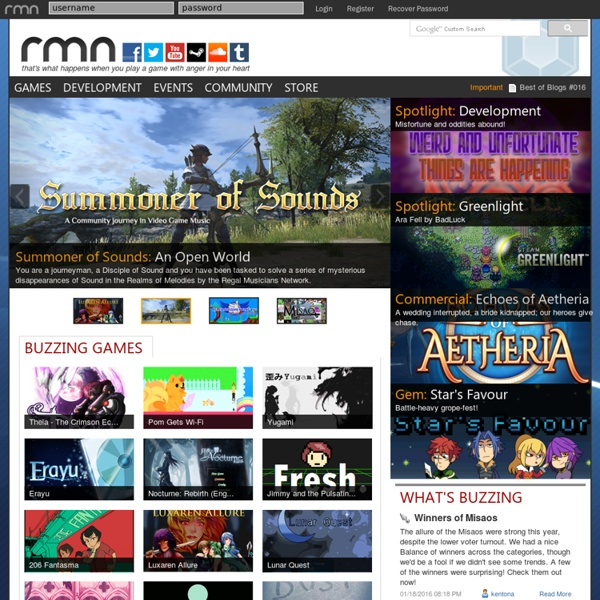Create and play RPGs, adventure games, and more made with RPG Maker, Game Maker, and other engines