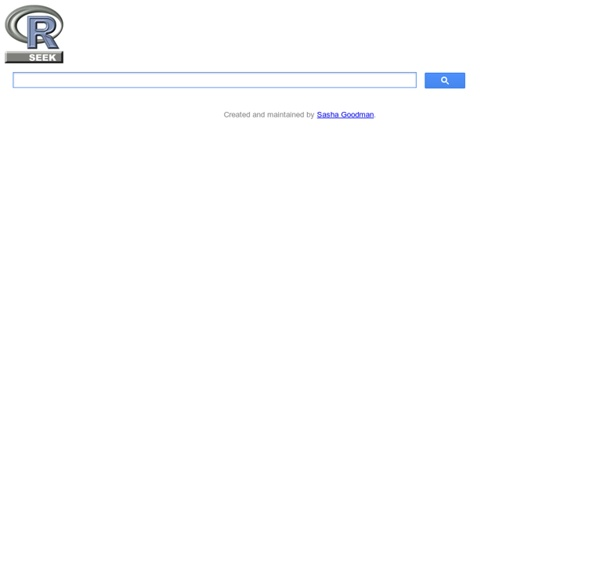 RSeek.org R-project Search Engine
