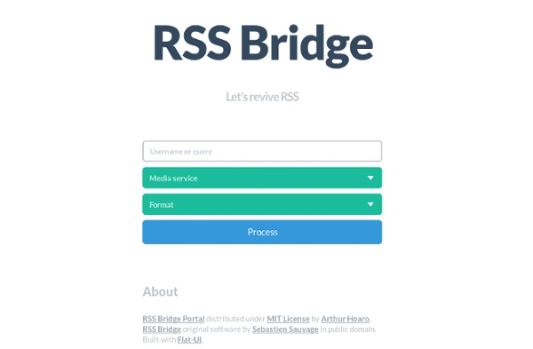 RSS Bridge - Let's revive RSS