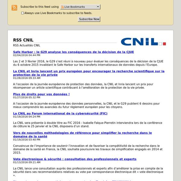 RSS CNIL