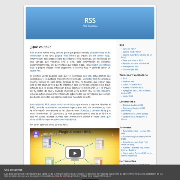 RSS » ¿Qué es RSS?