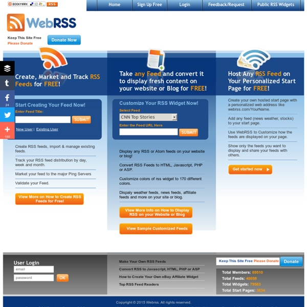 RSS Widget - RSS to HTML - Display RSS for Free with Web RSS
