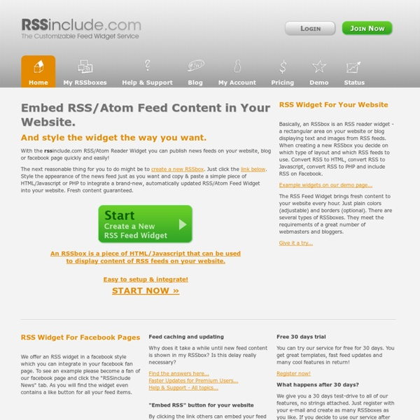 how to add rss feed for websites