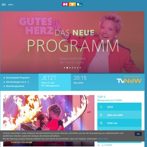 RTL.de : TV-Programm, Wetter, Videos, News und Service, Stars und Serien