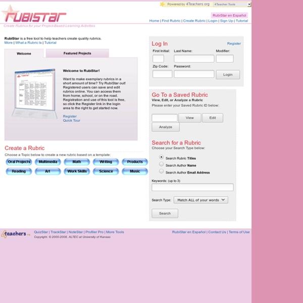RubiStar Home
