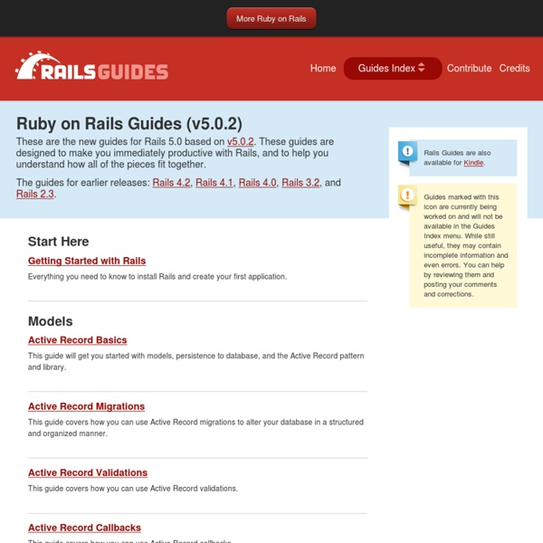 Ruby on Rails Guides