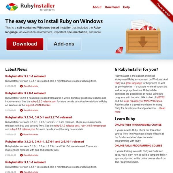 RubyInstaller for Windows