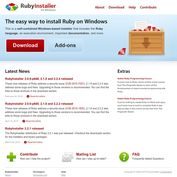 RubyInstaller for Windows