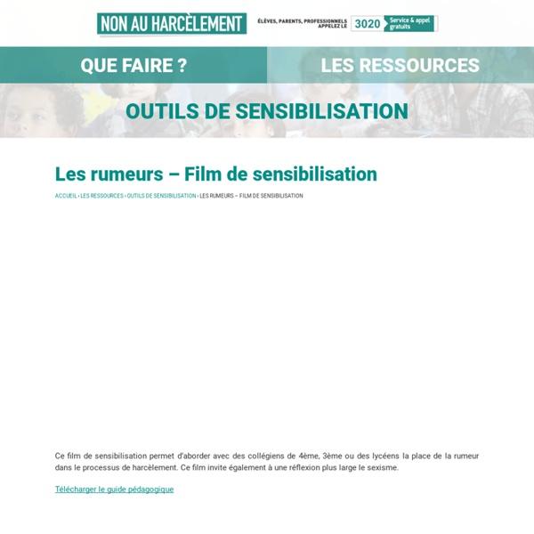 Les rumeurs – Film de sensibilisation