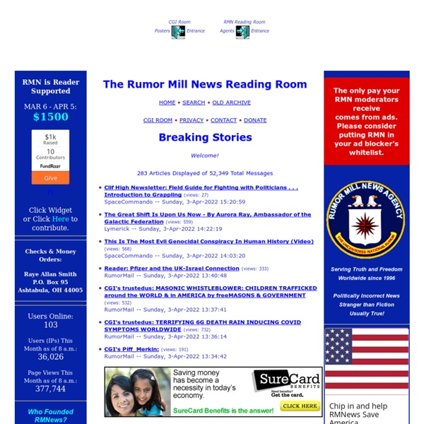 The Rumor Mill News Reading Room - Breaking Stories