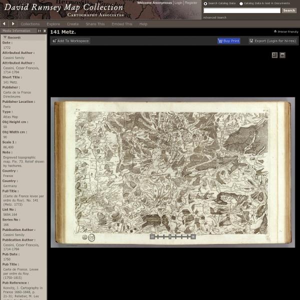 (Carte de France levee par ordre du Roy). No. 141 (Metz. 1772)