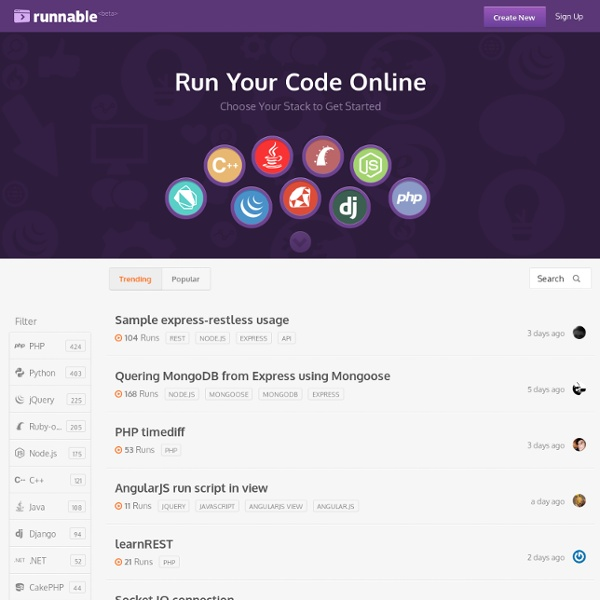 Runnable - Discover Everything through Code