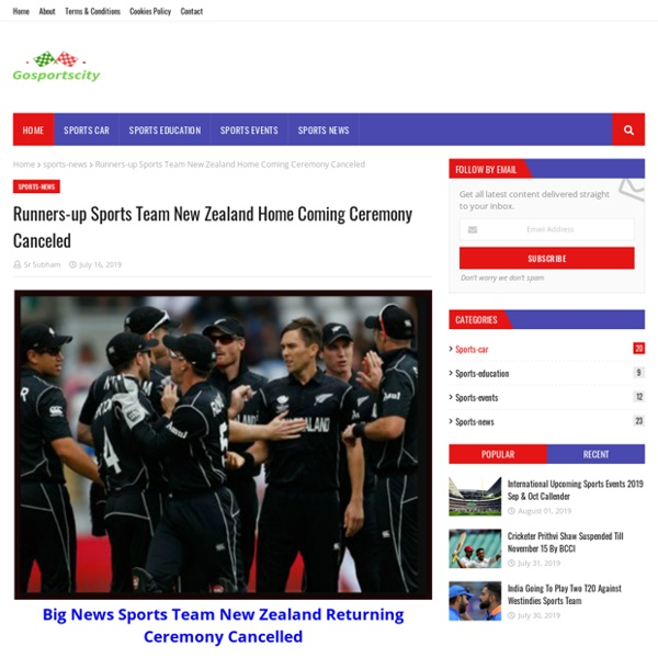 Runners-up Sports Team New Zealand Home Coming Ceremony Canceled
