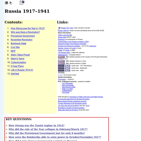 Russia 1917-1941