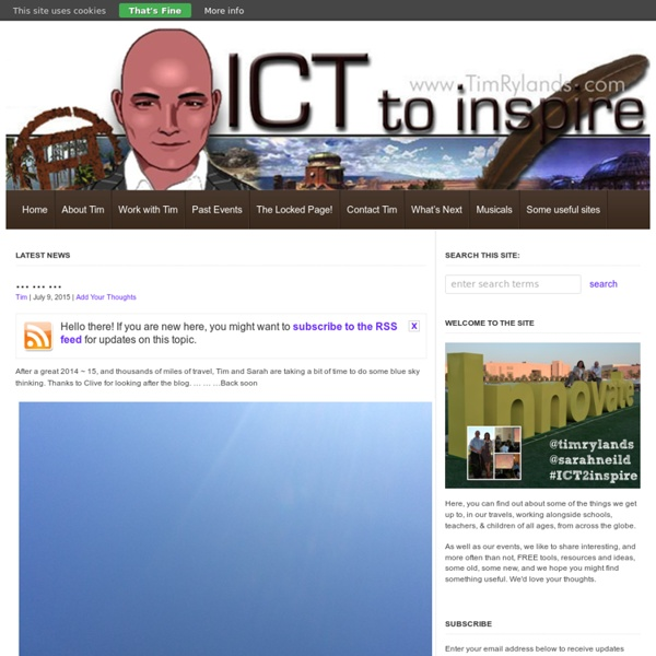 Tim Rylands' Blog - to baldly go....... Using ICT to inspire