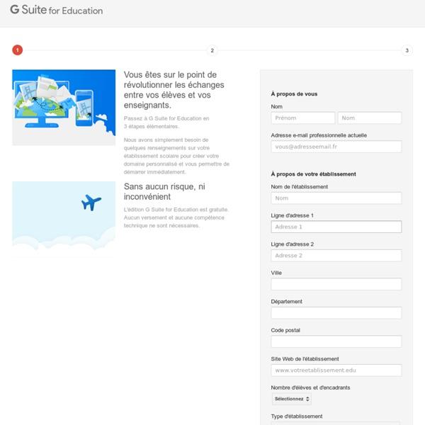 S'inscrire à Google Apps for Education
