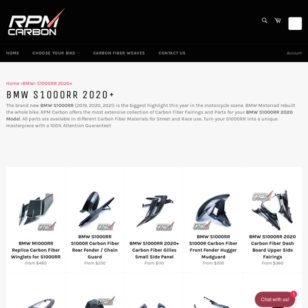 BMW S1000RR 2020+ Carbon Fiber Parts Fairings for Street & Race – RPM Carbon