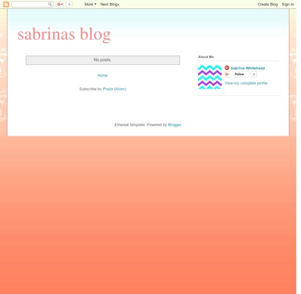 Sabrinas blog