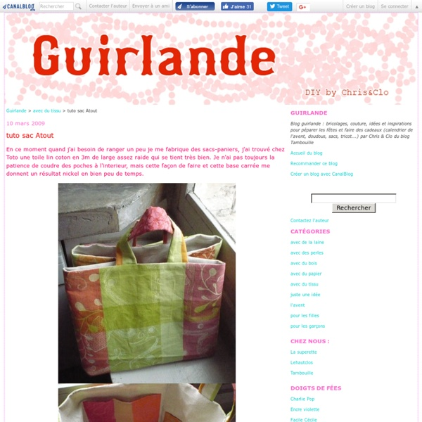 Tuto sac Atout - Guirlande