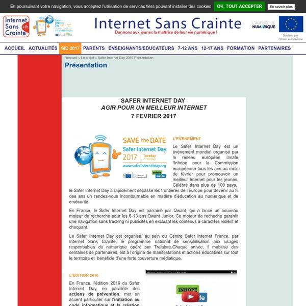 Safer Internet Day 2016 Présentation