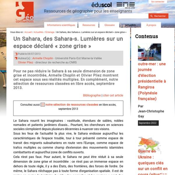 Un Sahara, des Sahara-s. Lumières sur un espace déclaré « zone grise »