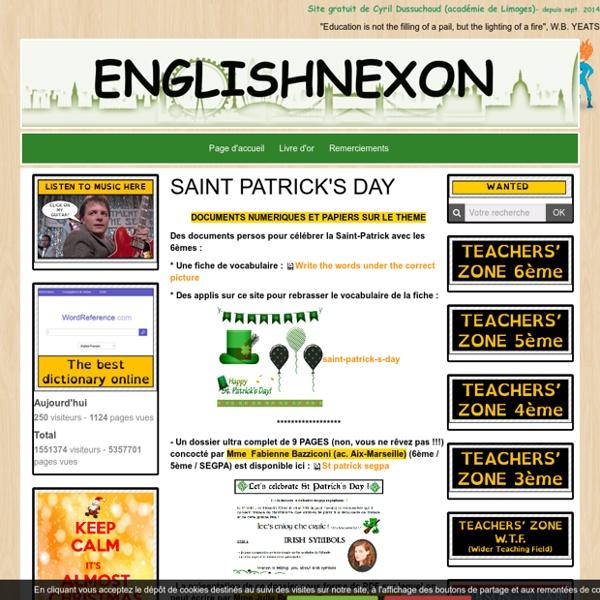 Ressources pour travailler le thème de la Saint Patrick