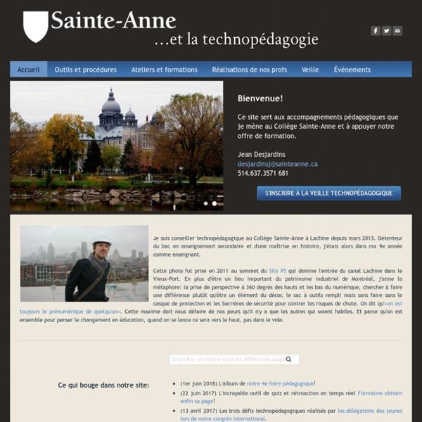 Sainte-Anne et la technopédagogie