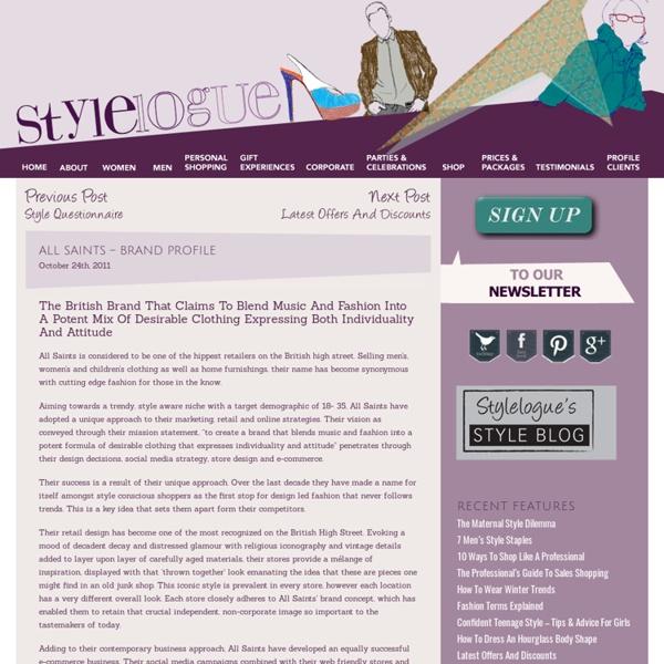 All Saints – Brand Profile « Stylelogue
