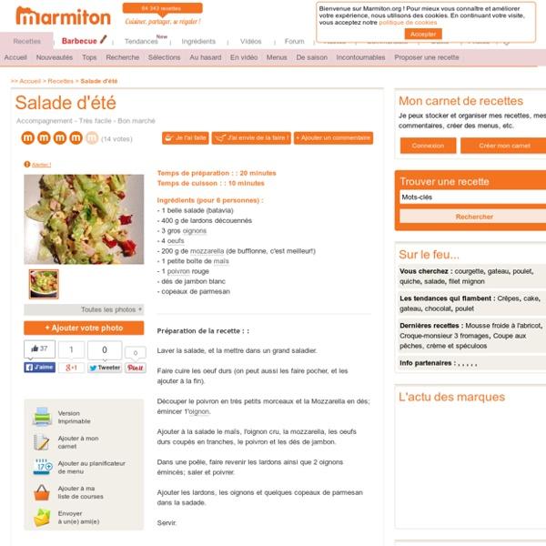 Salade d'été : Recette de Salade d'été