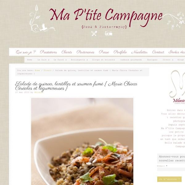 Salade de quinoa, lentilles et saumon fumé de Marie
