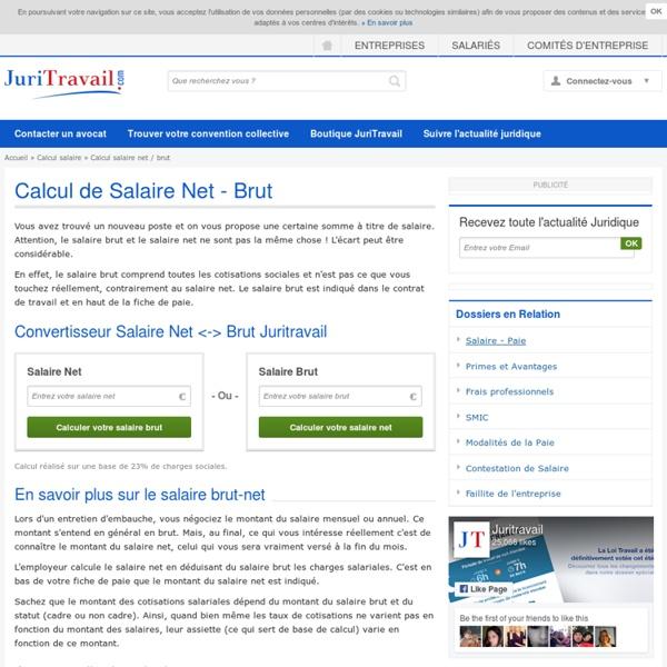 Calcul Salaire Net / Brut - Evaluation salaires