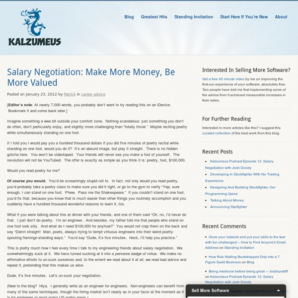 Salary Negotiation: Make More Money, Be More Valued
