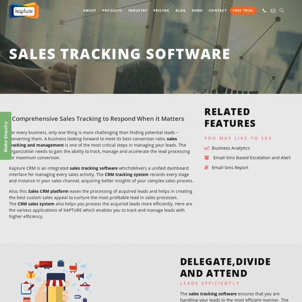Sales Lead Tracking Software