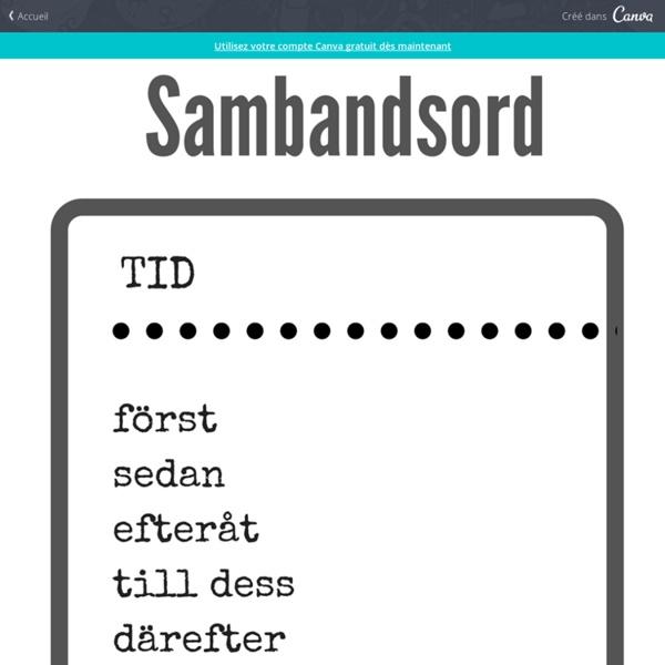 Sambandsord – Poster par Annika Sjödahl
