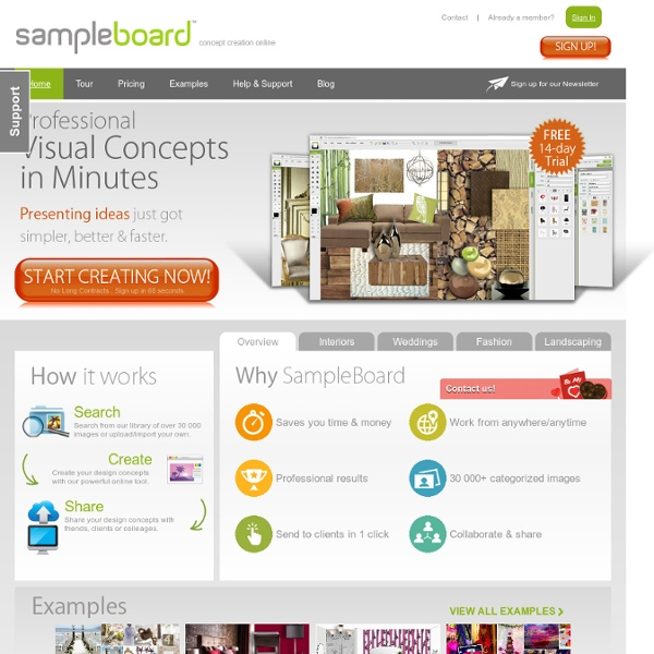 SampleBoard- Digital Mood Board Editor for Creative Industries