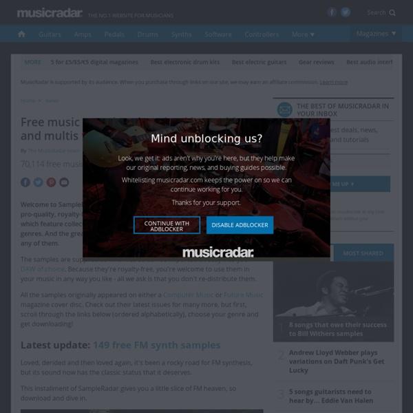 Free music samples: download loops, hits and multis from SampleRadar