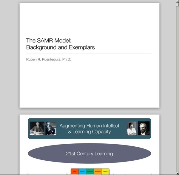 The SAMR Model: Background and Exemplars - SAMR_BackgroundExemplars.pdf